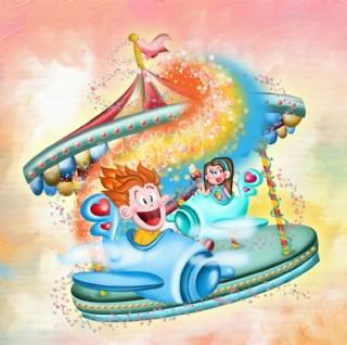 卡通儿童相框背景图片