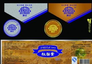 蜂蜜瓶體標簽設計圖片