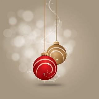 矢量圣誕華麗吊球
