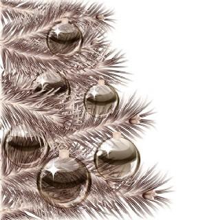 矢量圣誕水晶質感吊球