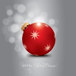 矢量素材精美高光圣誕吊球